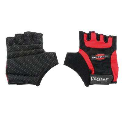 Large Red Gel Touch Bike Gloves