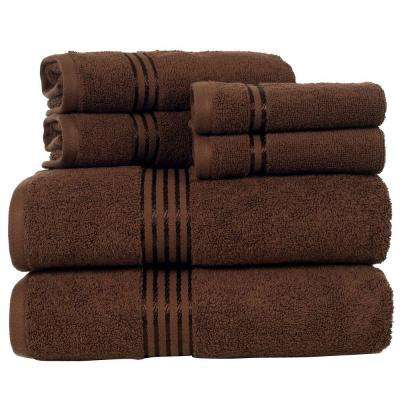 100% Egyptian Cotton Hotel Towel Set in Chocolate (6-Piece)