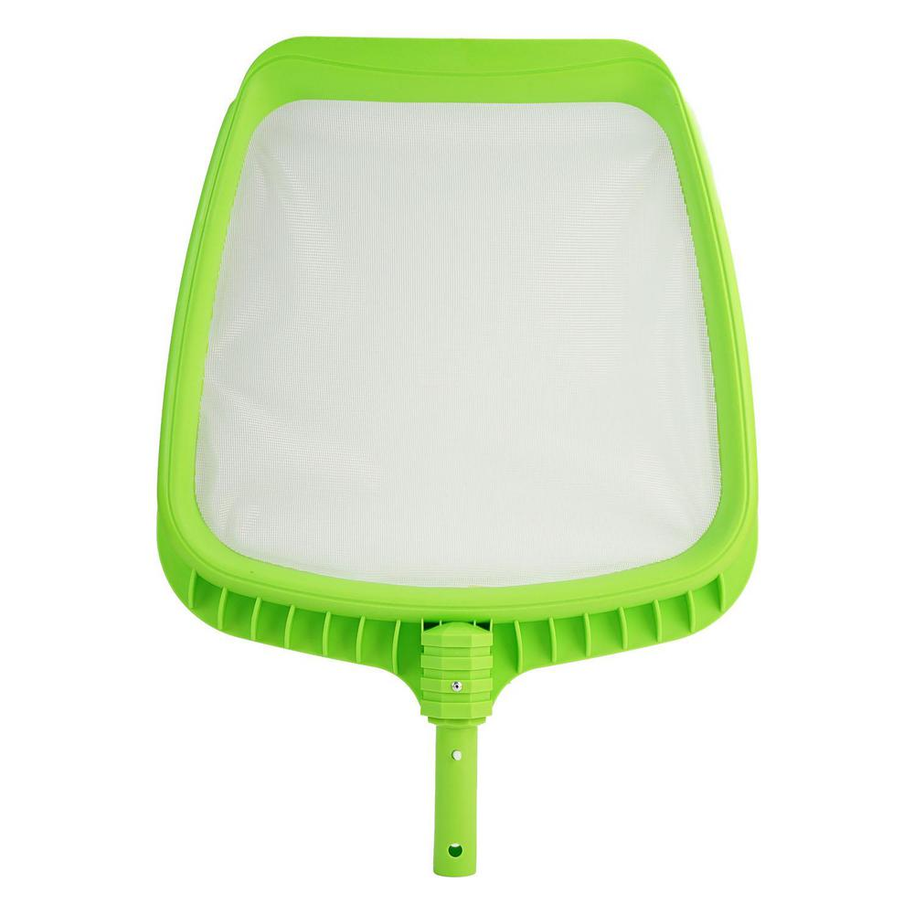 21 in. Lime Green Deluxe Pro-Series Swimming Pool Mesh Skimmer Head