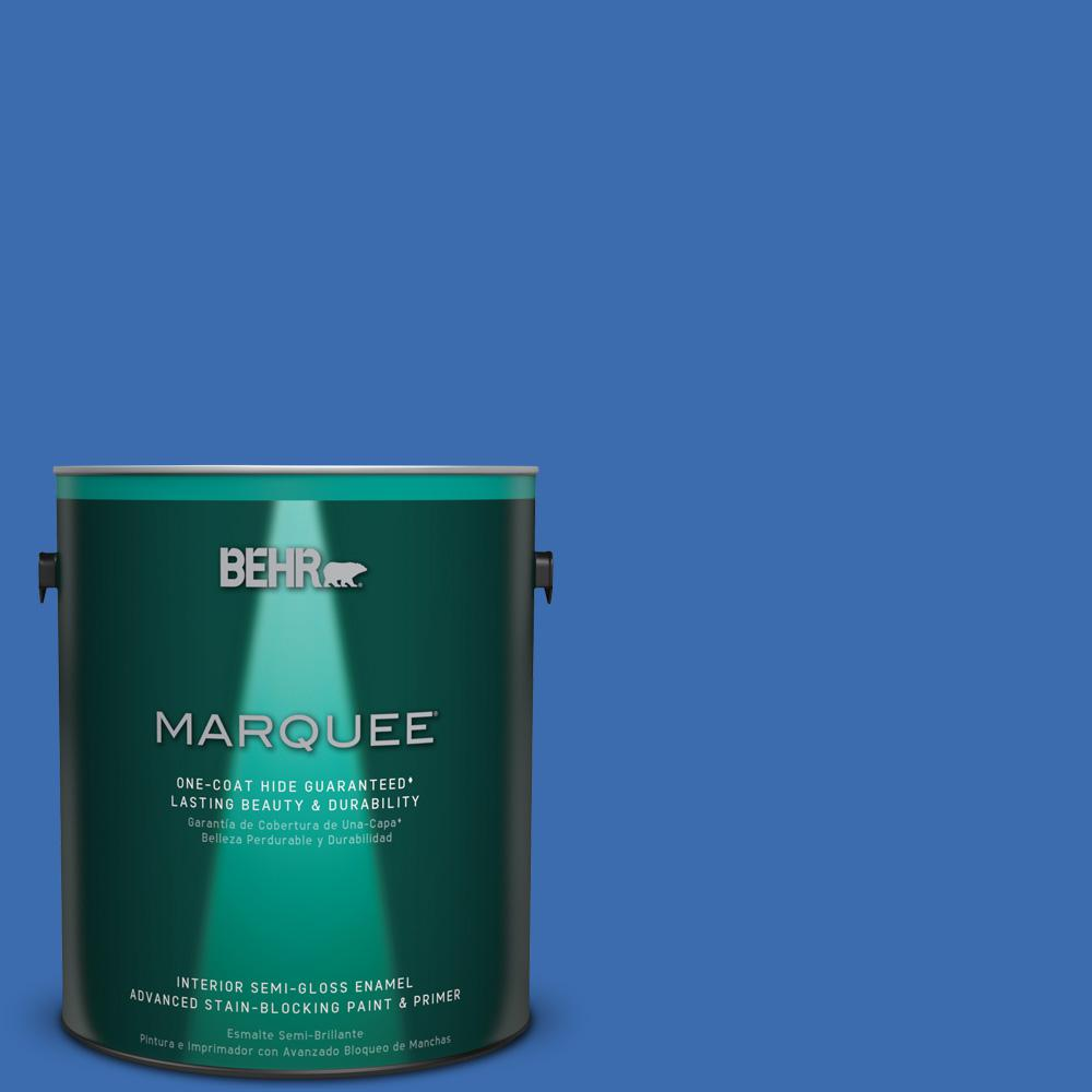 1 gal. #T18-17 Wide Sky Semi-Gloss Enamel Interior Paint