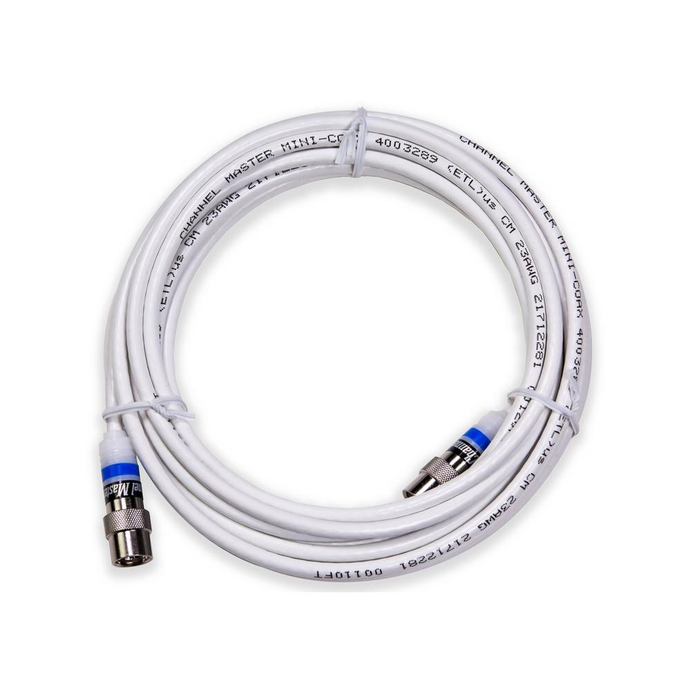 Av Splitters Signal Amplifiers Cables Connectors The Home Icing Kit Further Master Appliance Heat Gun On 120v Tape Wiring Professional Indoor Mini Coaxial Cable With Easy Push
