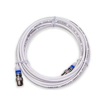 16 ft. Professional Indoor Mini Coaxial Cable with Easy Push-On Connectors, White