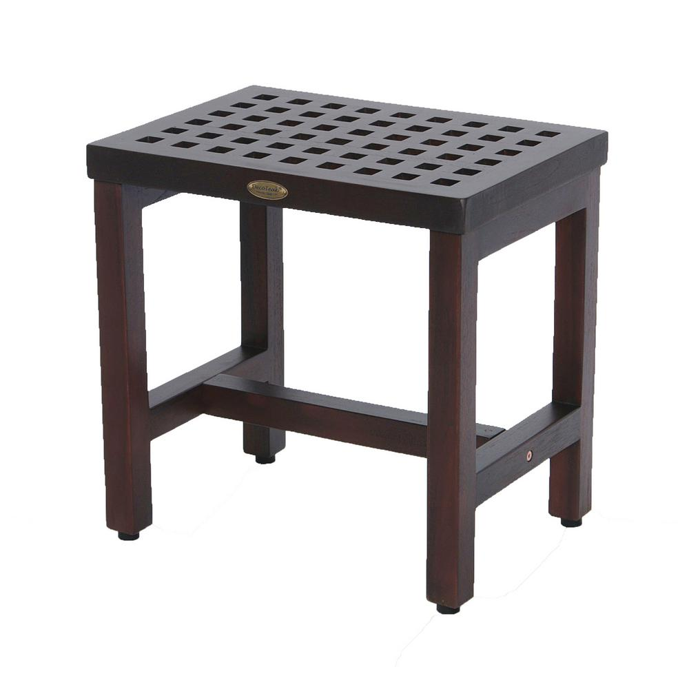 Espalier 18 in. Lattice Teak Shower Bench