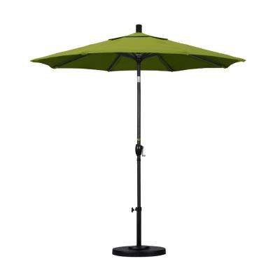 7-1/2 ft. Fiberglass Push Tilt Patio Umbrella in Kiwi Olefin