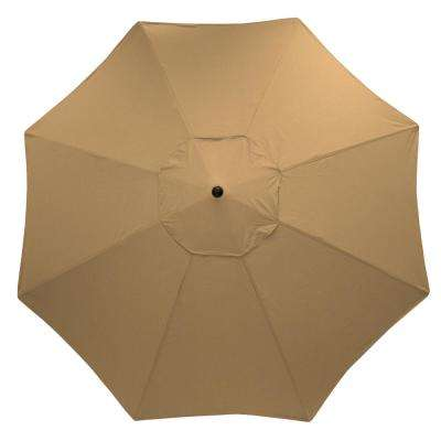 11 ft. Aluminum Market Patio Umbrella in Toffee