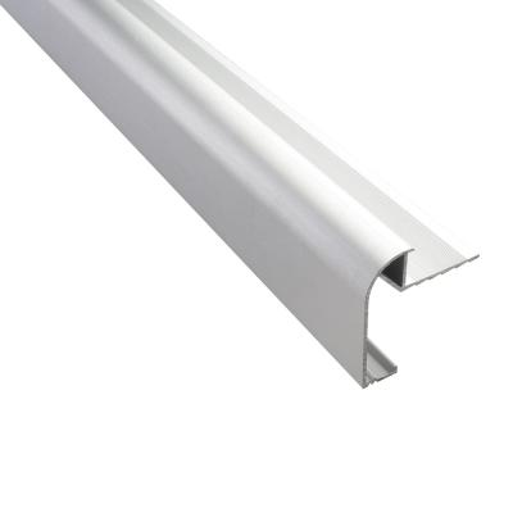 Novoencimera Matt Silver 3/8 in. x 98-1/2 in. Aluminum Tile Edging Trim