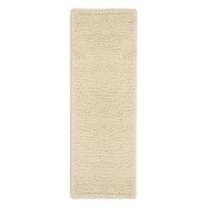 Cozy Shag Collection Cream 2 ft. x 5 ft. Runner Rug