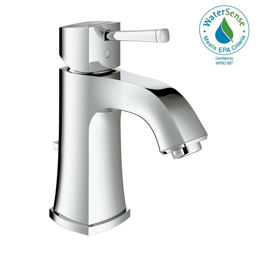 Grandera Single Hole Single-Handle 1.2 GPM Bathroom Faucet in StarLight Chrome
