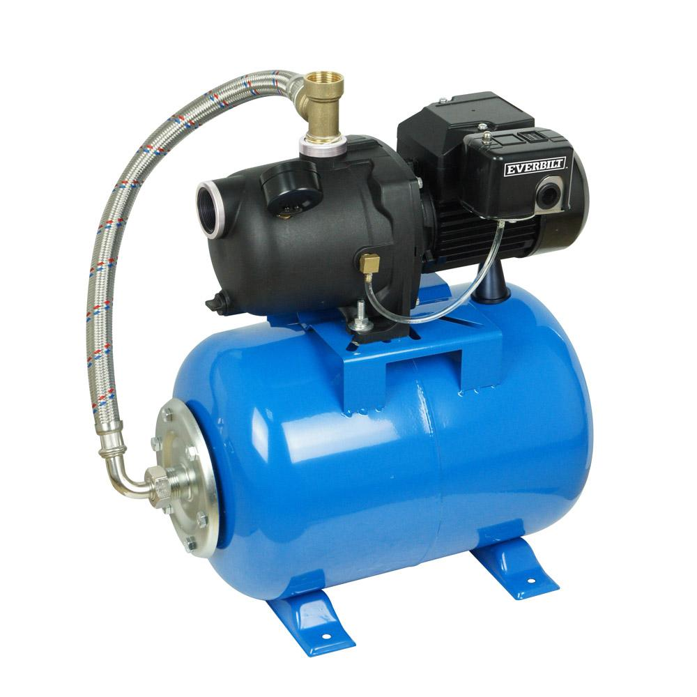Everbilt 1/2 HP Shallow Well Jet Pump With 6 Gal. Tank