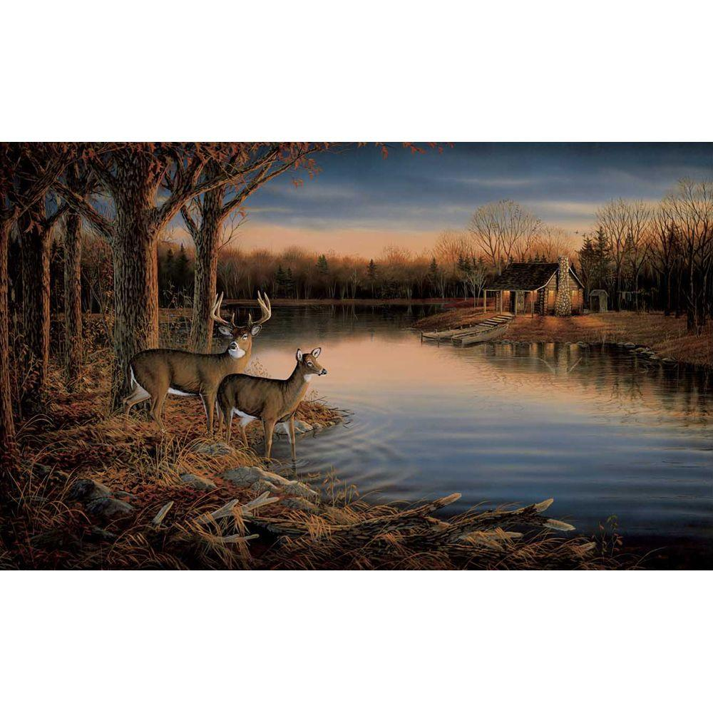 York Wallcoverings 15 ft. x 9 ft. Deer Wall Mural