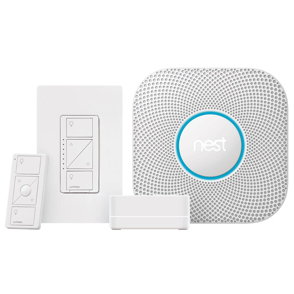 Caseta Wireless Smart Dimmer Starter Kit with Nest Protect Smoke and