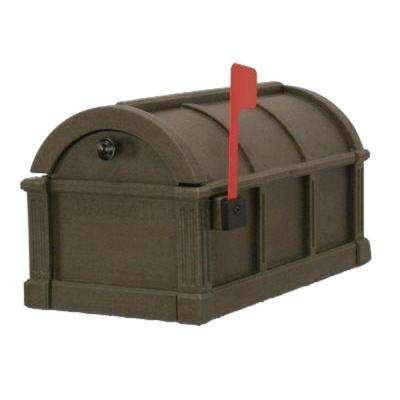 Sunset Pointe Polyethylene Mailbox in Coffee