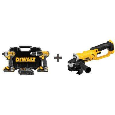 20-Volt MAX Lithium-Ion Cordless Combo Kit (2-Tool) with (2) Batteries 1.5Ah, Charger, Case and Bonus Cut-Off Tool
