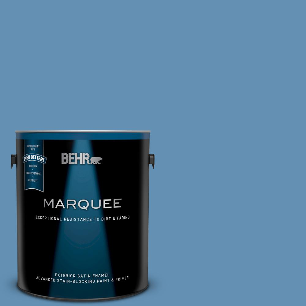 M510 4 Brittany Blue Satin Enamel Exterior Paint And Primer In One