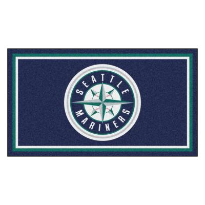MLB - Seattle Mariners 3 ft. x 5 ft. Ultra Plush Area Rug
