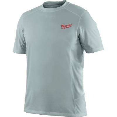 Men's Large Work Skin Gray Light Weight Performance Shirt