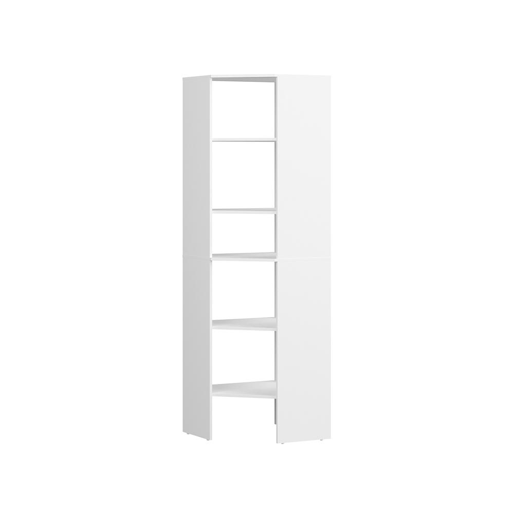 ClosetMaid Style+ 25 in. W White Corner Wood Closet Tower