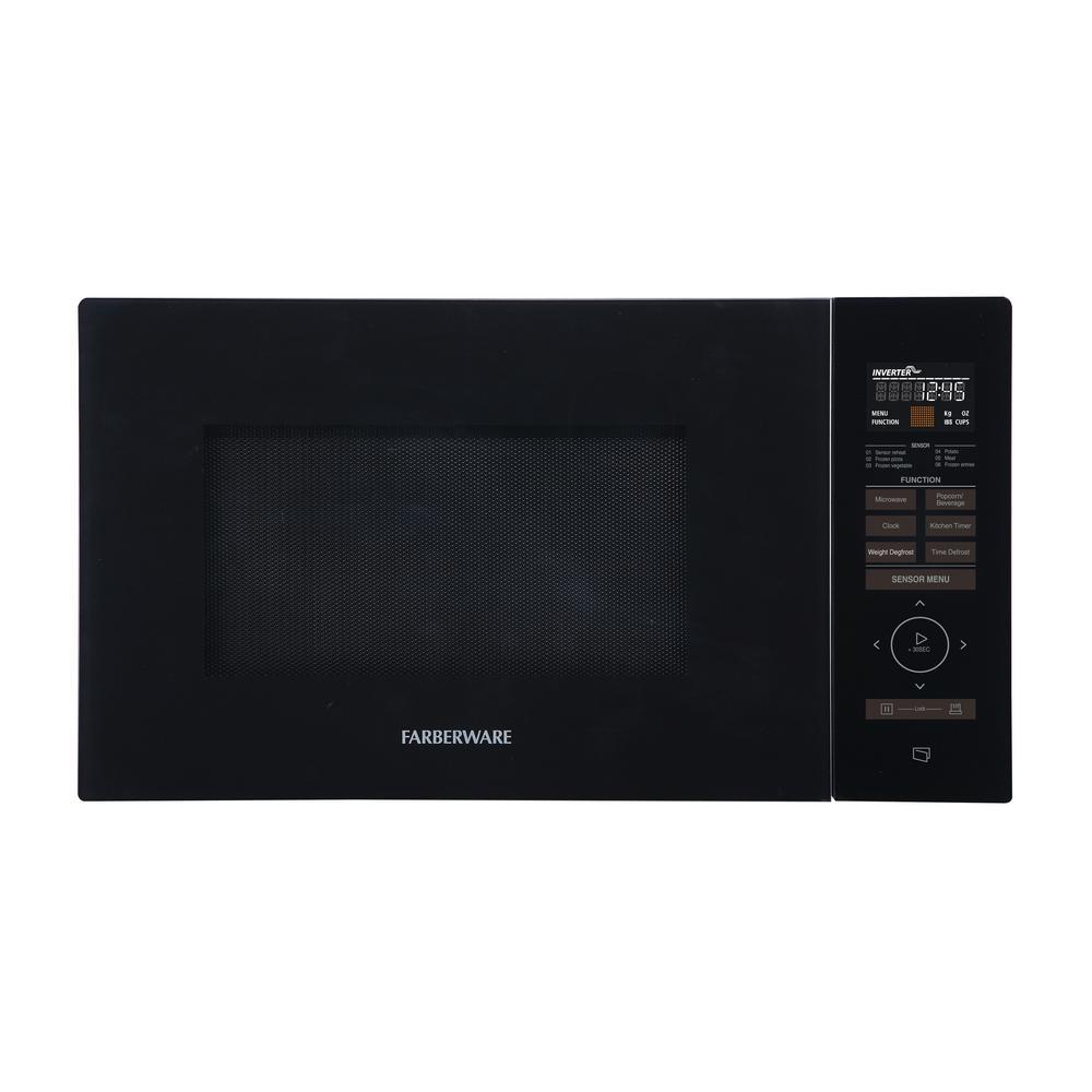 Gourmet 1.1 cu. ft. 1100-Watt Countertop Microwave Oven w/Smart Sensor, Inverter Technology, Black