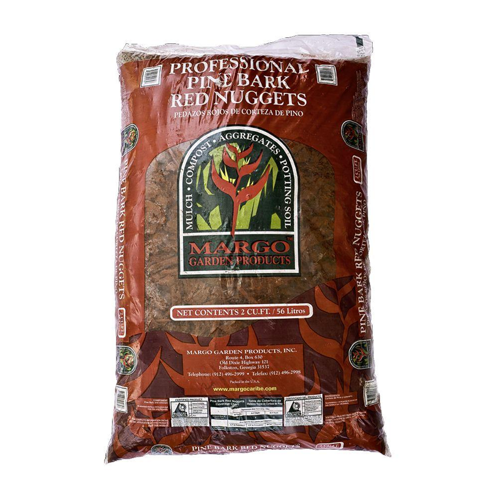 Margo Garden Products 2 cu. ft. Pine Bark Red Nuggets-2MSLRNU - The ...