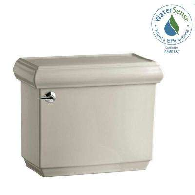 Memoirs 1.28 GPF Single Flush Toilet Tank Only with AquaPiston Flushing Technology in Sandbar