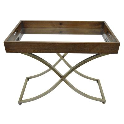 26.5 in. Brown Serving Tray