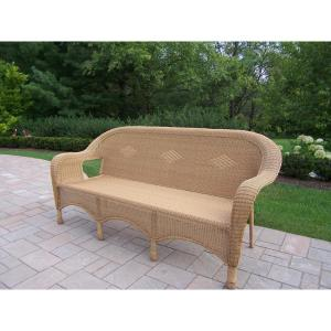 Honey Wicker Outdoor Sofa by