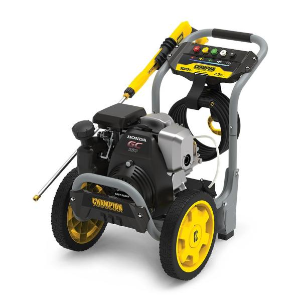 Champion Power Equipment 3000 Psi 2 3 Gpm Cold Water Gas Pressure Washer With Honda Engine 100781 The Home Depot