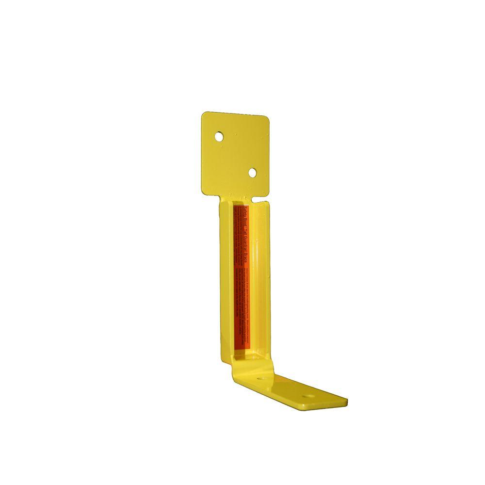 Tall Guardrail Brace Up to 65 in. in Height 1 Unit Yellow OSHA Compliant Bracket for Use Exclusively with The Safety Boot Guardrail System