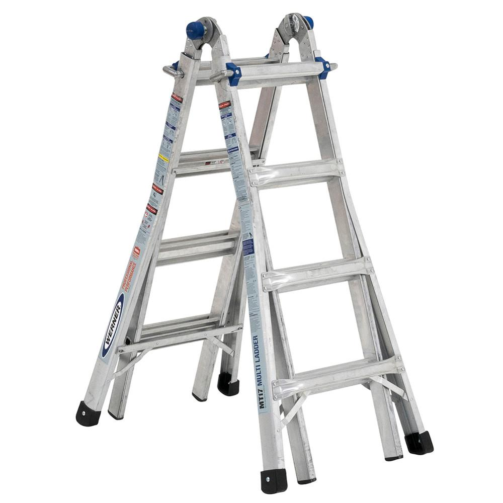 5-in-1 Telescoping 18 ft. Reach Aluminum Multi-Position Ladder with 375 lbs.