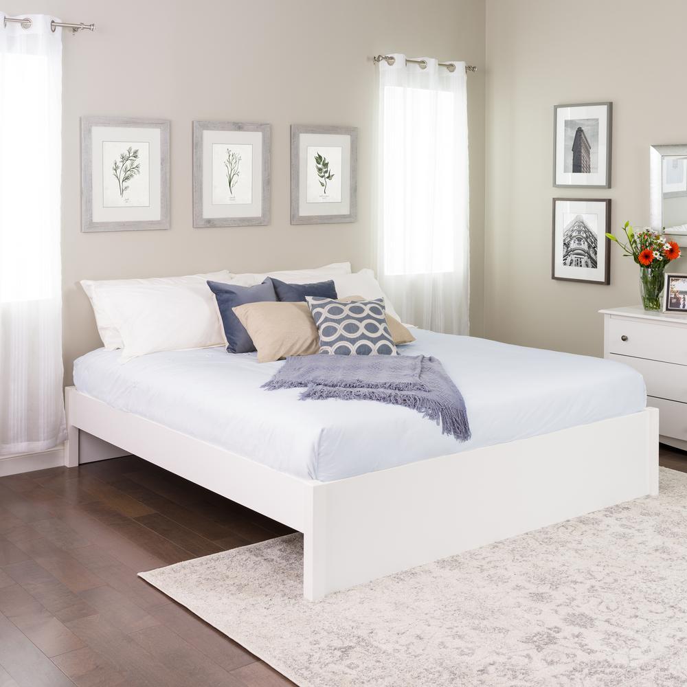 Select White King 4-Post Platform Bed
