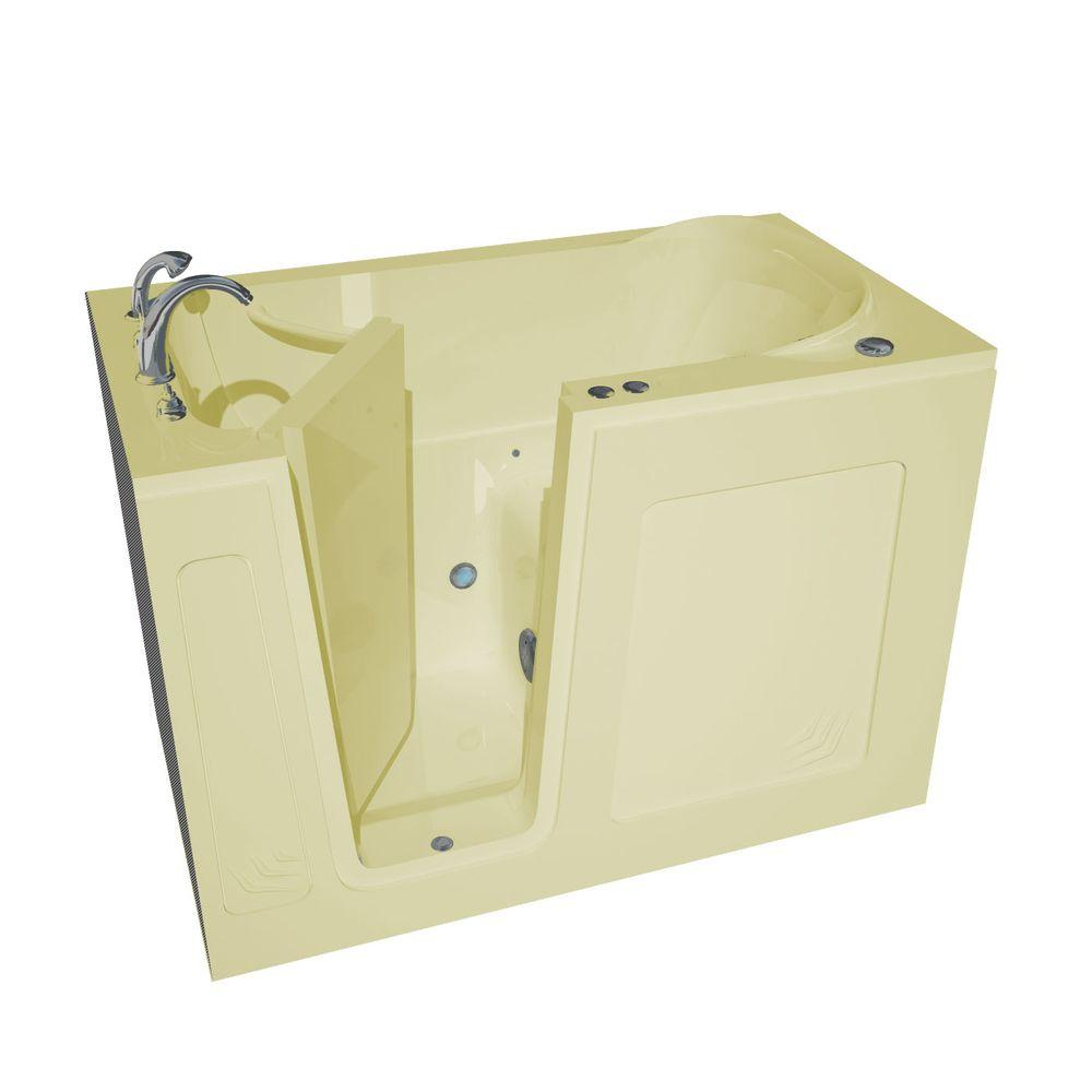Universal Tubs Nova Heated 4.5 ft. Walk-In Air Jetted Tub in Biscuit ...