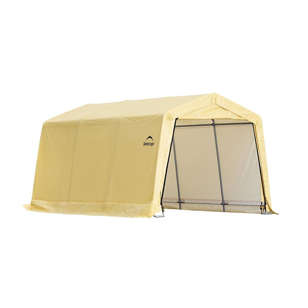 ShelterLogic 10 ft. x 15 ft. x 8 ft. Tan PE Garage without Floor