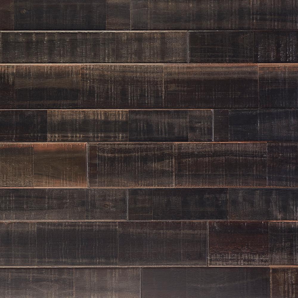 Japanese Charred Black Bronze 5/8 in. T x Multi-Width x 48 in. L Solid Lock Hardwood Flooring (18.33 sq. ft. / case)