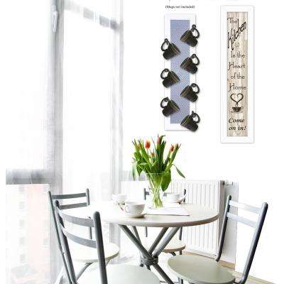 Come On In 2-Piece Vignette with 7-Peg Mug Rack Decorative Sign