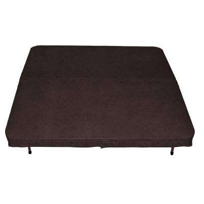 96 in. x 96 in. x 4 in. Spa Cover in Walnut