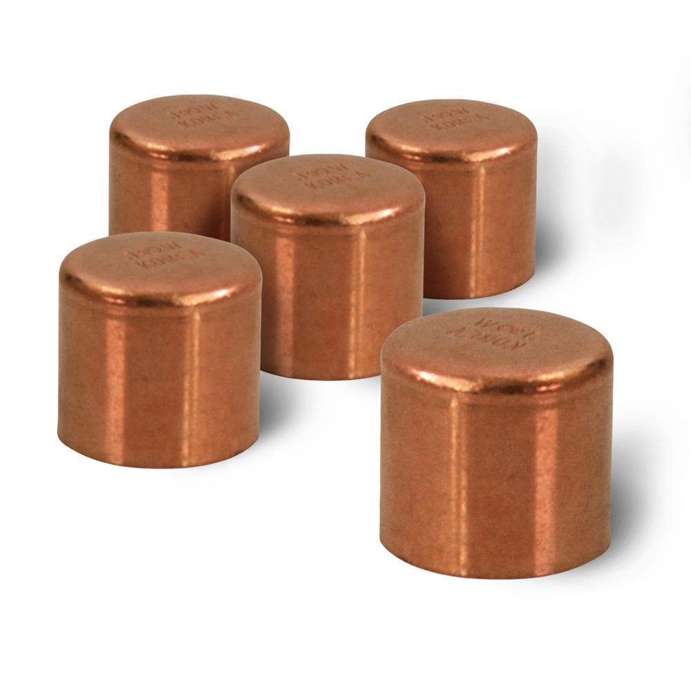 """10 Pack 2/"""" Copper Cap Sweat Fitting"""