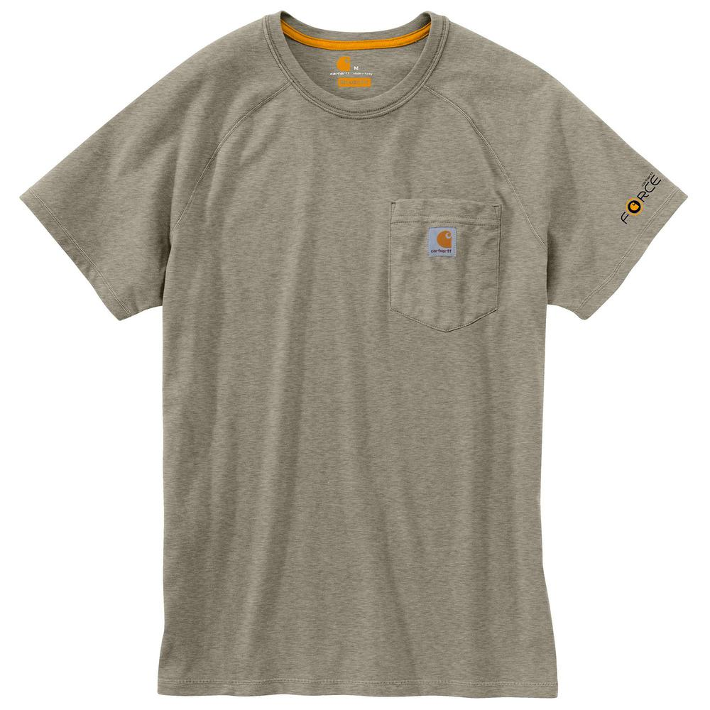 Carhartt Men/'s Force Cotton Delmont Short Sleeve T-Shirt Regular and Big /&
