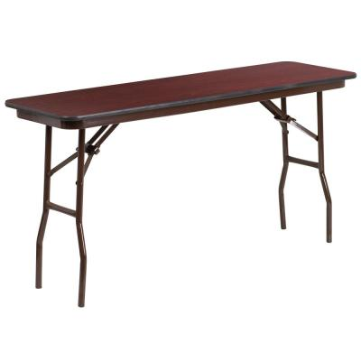 60 in. Mahogany Wood Table top Material Folding Banquet Tables