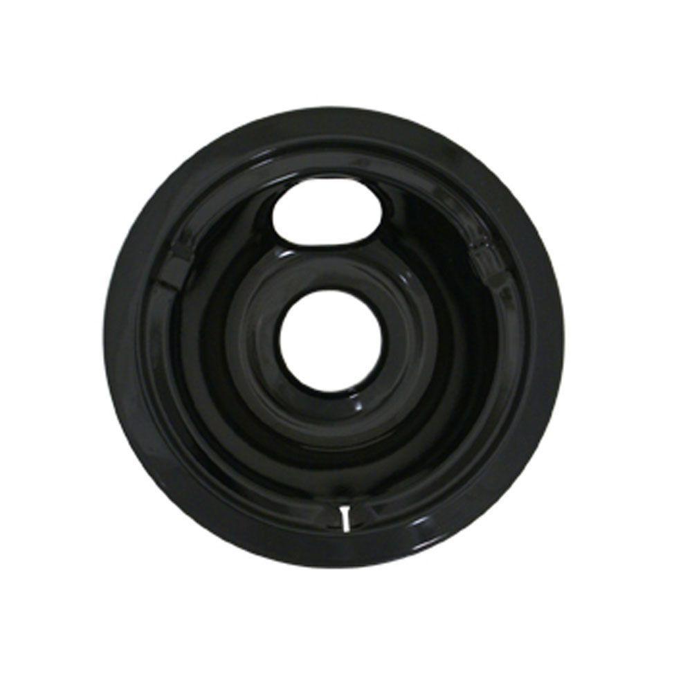 6 in. Drip Bowl in Black Porcelain