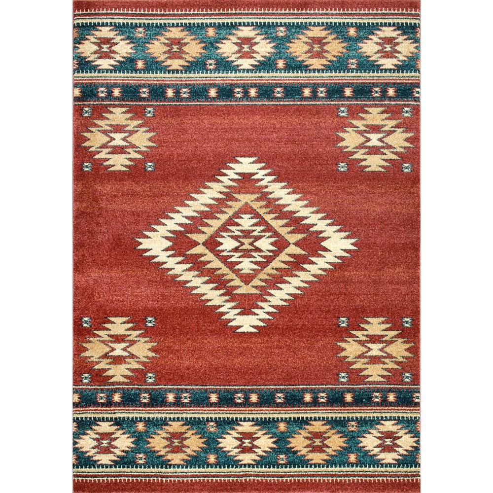 Throw Rugs At Dollar General: NuLOOM Tribal Diamond Margene Red 4 Ft. X 6 Ft. Area Rug