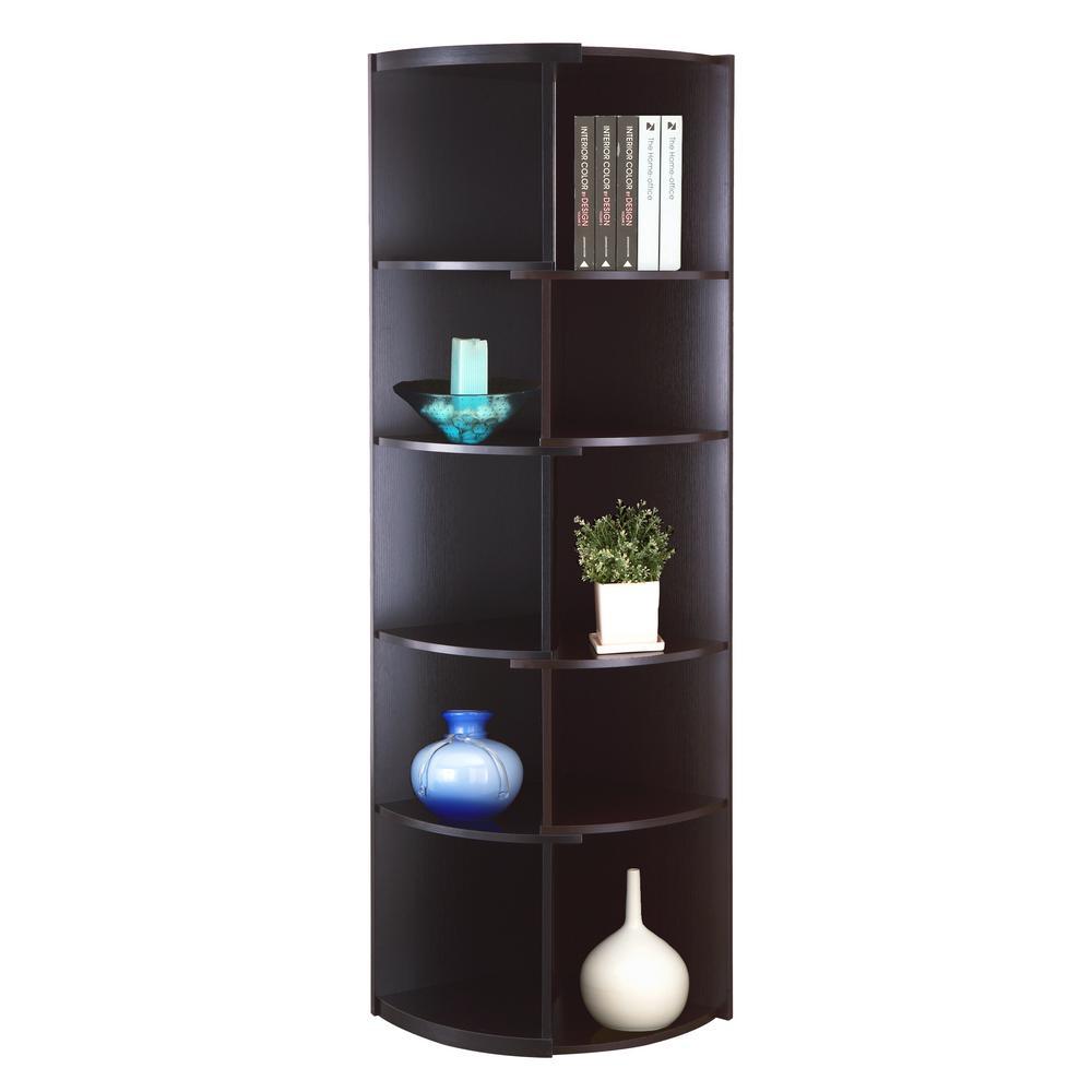 Lepen Black and Cappuccino Bookcase