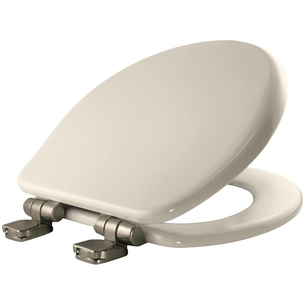 Bemis Round Closed Front Toilet Seat In Biscuit 9170nisl
