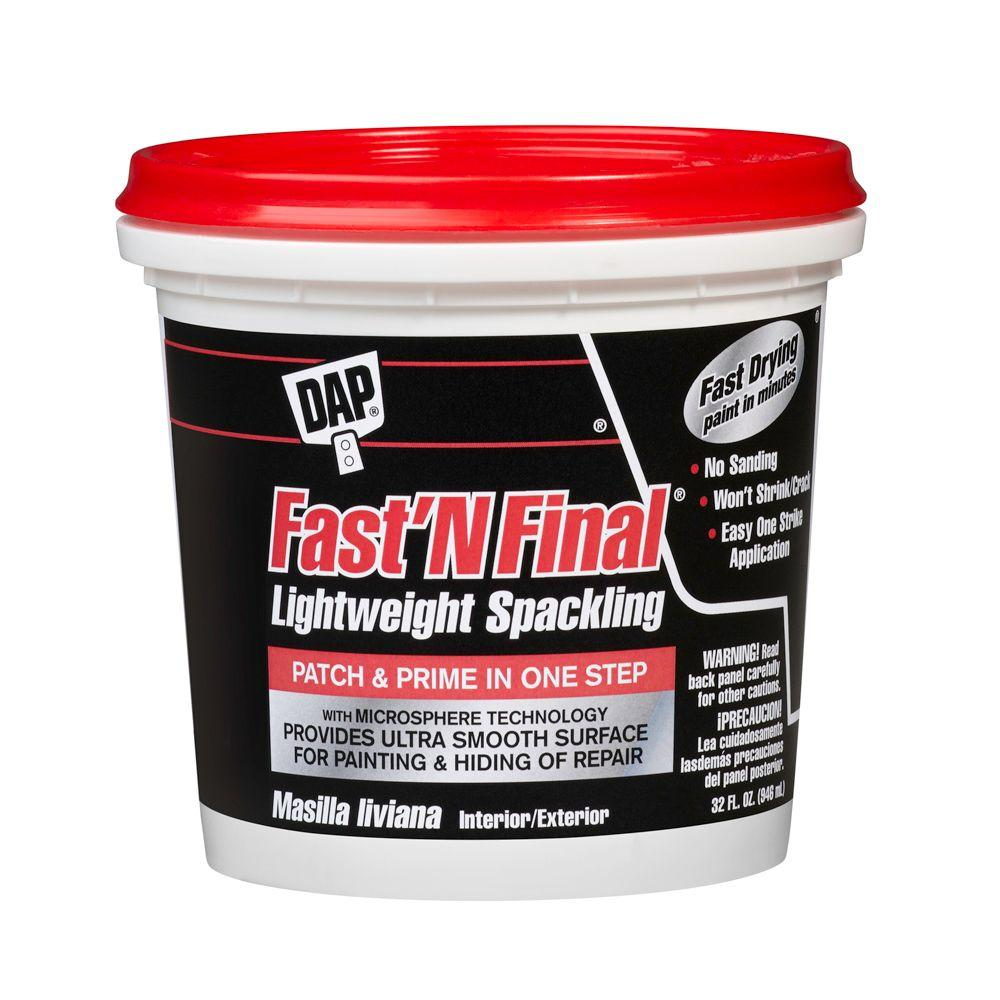 DAP Fast'N Final 32 oz. White Lightweight Spackling (6-Pack)