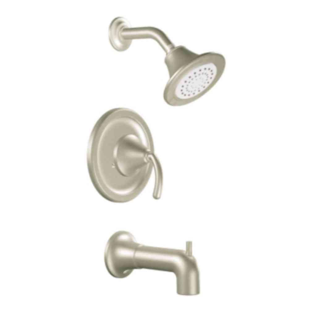 MOEN Icon Single Handle 1 Spray Moentrol Tub And Shower Faucet Trim In  Brushed