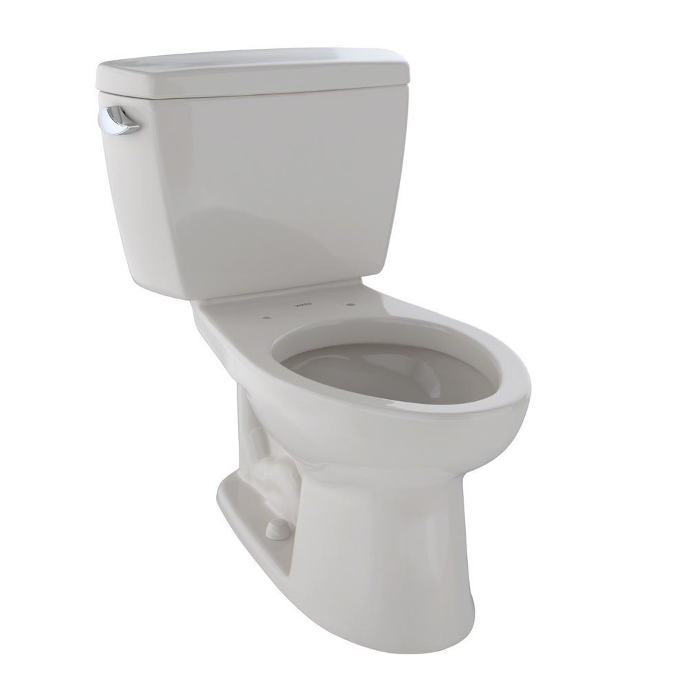 TOTO Drake 2-Piece 1.6 GPF Single Flush Elongated Toilet in Sedona ...