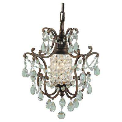 Maison De Ville 11 in. W.   1-Light British Bronze Mini Chandelier