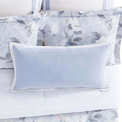 Soft Floral 16 in. x 32 in. Pillow