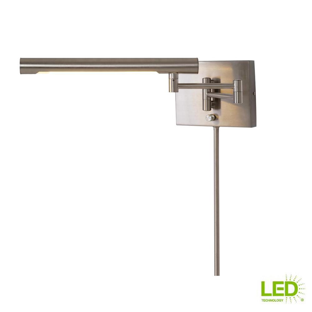 Home Decorators Collection 11-Watt Brushed Nickel LED Dual Wall Mount Wall Sconce