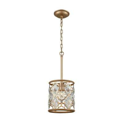 Armand 1-Light Matte Gold with Clear Crystal Pendant