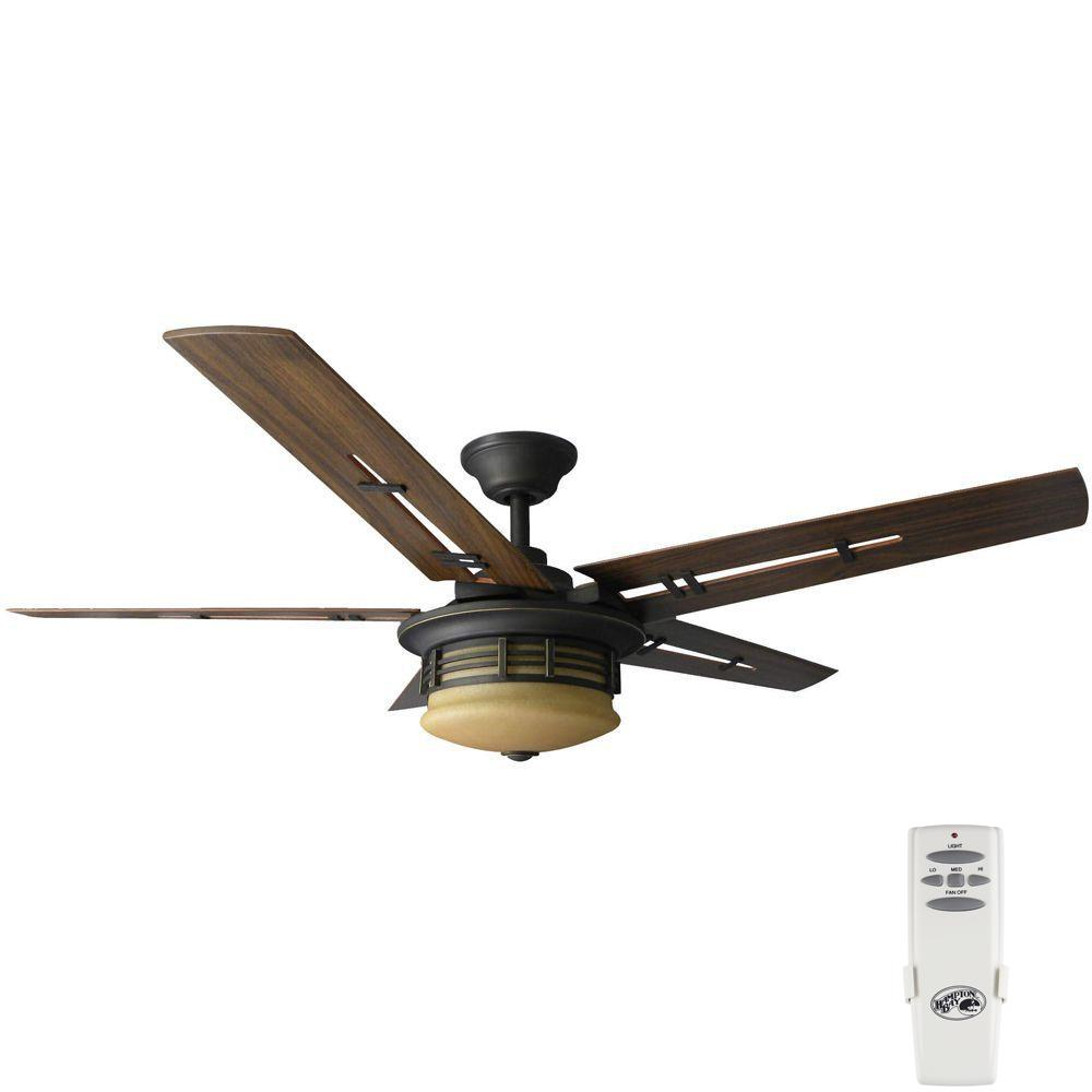 Hampton bay carlsbad 52 in black ceiling fan ceiling tiles hampton bay pendleton 52 in indoor oil rubbed bronze ceiling fan mozeypictures Images